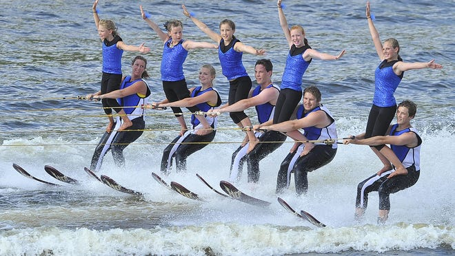 The Wisconsin Rapids Aqua Skiers perform during a 2013 competition. The team will compete in a national tournament this weekend in Tomahawk.