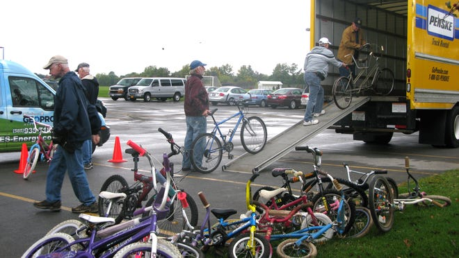 A steady stream of bikes was donated at the Penfield Bike Drop-Off on Saturday, October 4th.