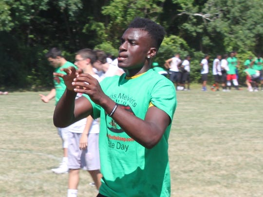 Former St. John Vianney quarterback Anthony Brown, now a freshman at Boston College, at last year's Shore's Best Football Camp.