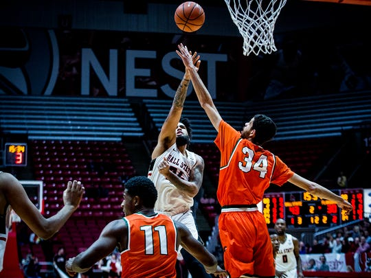 Ball State defeated Florida A & M 75-54 at Worthen