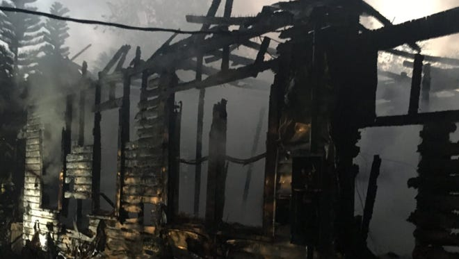 A house in Canaveral Groves was destroyed in a fire early Wednesday.