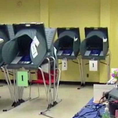 Harris County voting booth / file