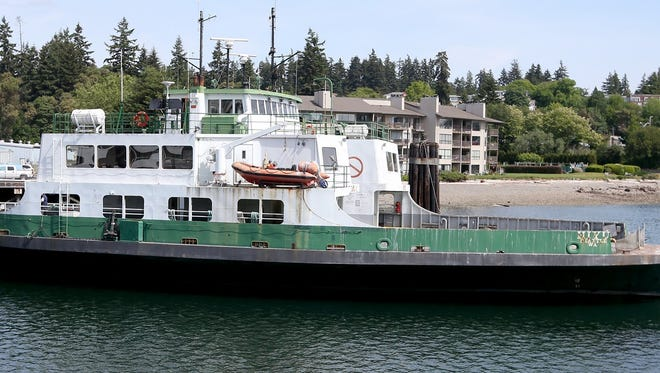 The ferry Hiyu in May at the Eagle Harbor Maintenance Facility on Bainbridge Island.