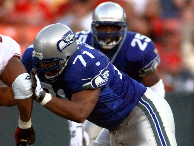Seahawks LT Walter Jones was a nine-time Pro Bowler and four-time first-team all-pro during his 12-year NFL career.