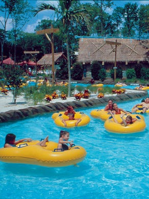 2016: Guests enjoy the lazy river at Hurricane Harbor.