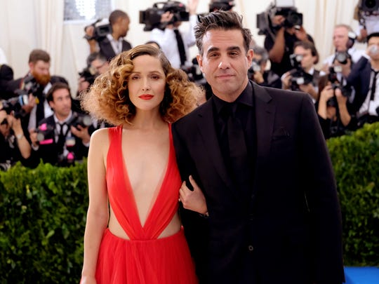 Rose Byrne, left, and Bobby Cannavale, at the Met Gala