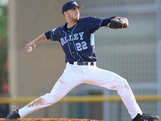 Wayne Valley's Mike LoPresti fires a pitch during a