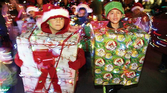 The Evolve Federal Credit Union Celebration of Lights is set for Saturday in Cleveland Square Park, 501 N. Santa Fe, Downtown.