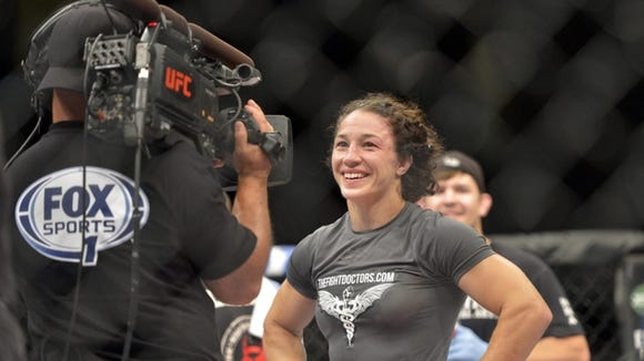 McDowell alum Sara McMann won her second UFC fight on Saturday in Bangor, Maine.
