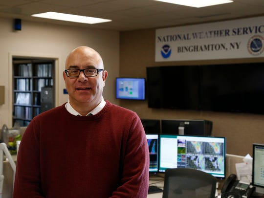David Nicosia, warning coordination meteorologist at the National Weather Service Binghamton Weather Forecast Office on Thursday, December 7, 2017.