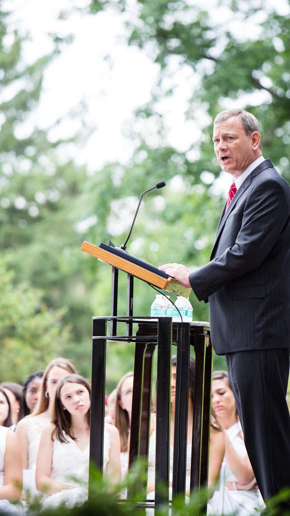Chief Justice John Roberts gave the commencement address
