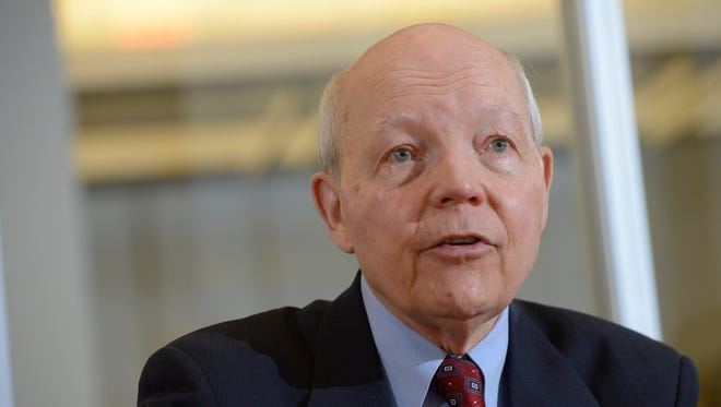 John Koskinen, IRS commissioner, speaks to the USA TODAY editorial board, Monday Jan. 26, 2015.