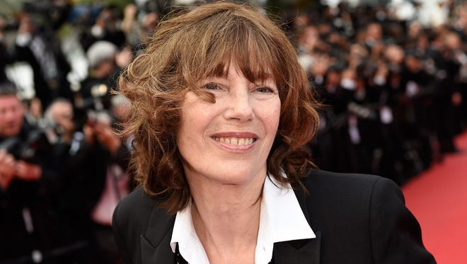 Jane Birkin poses as she arrives for the closing ceremony of the 68th Cannes Film Festival in Cannes, southeastern France, on May 24, 2015.