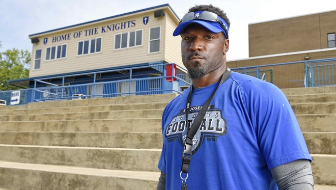 Brandon Bennett led St. Joseph's to a 4-7 record in his one season as the Knights' football coach.