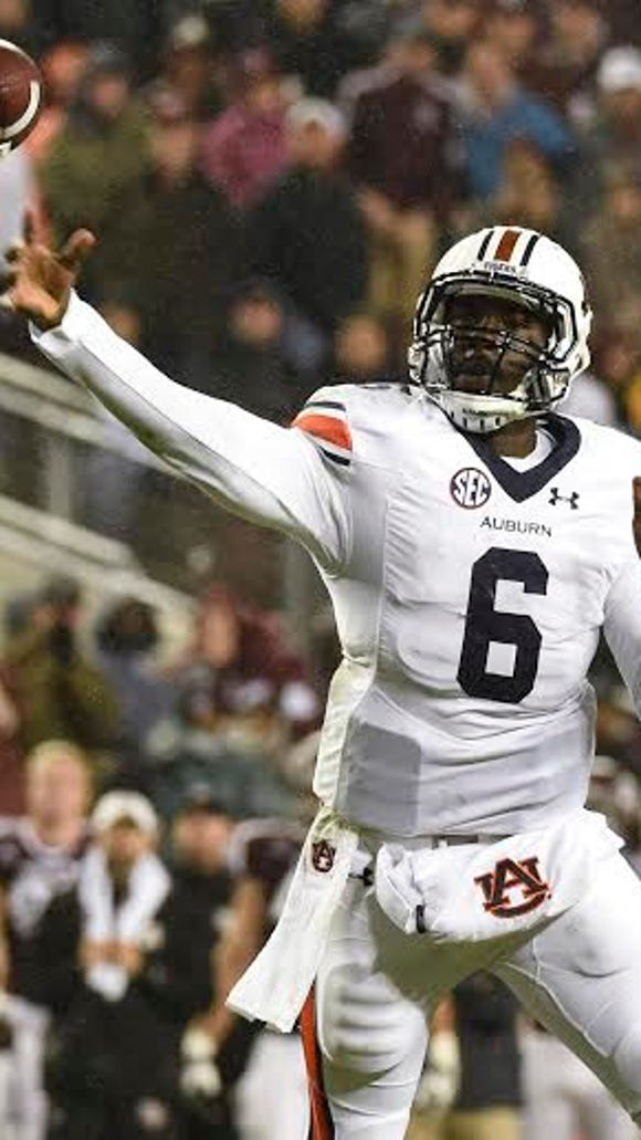 Jeremy Johnson (6).  Auburn at Texas A&M in College