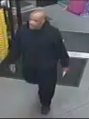 Surveillance footage shows the suspect wanted in connection