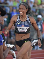 English Gardner of Voorhees competes during the women's 100m semifinal heats at the U.S. Olympic Track and Field team trials in 2016. Gardner has overcome more injuries and is set to compete in the 2019 world championships in Qatar.