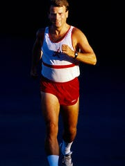Morris Twp. September 14, 1991--FILE--Runner Mark Washburne as our Runner of the Week back in 1991 hasnt missed a day of running since this photo was taken. Washburne of Mendham, NJ is the new President of the U.S.Running Streak Association. Its 300 members run at least one mile per day, with some member streaks as long as thirty years or longer. Today, April 27, 2011, Washburne logged his 7788th run in a row, his streak dating back to December 31, 1989.