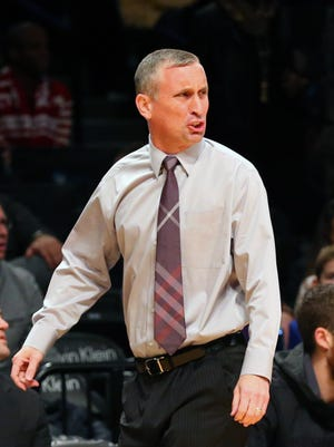 Arizona State Sun Devils head coach Bobby Hurley during the first half against the North Carolina State Wolfpack at Barclays Center on Nov. 23, 2015.