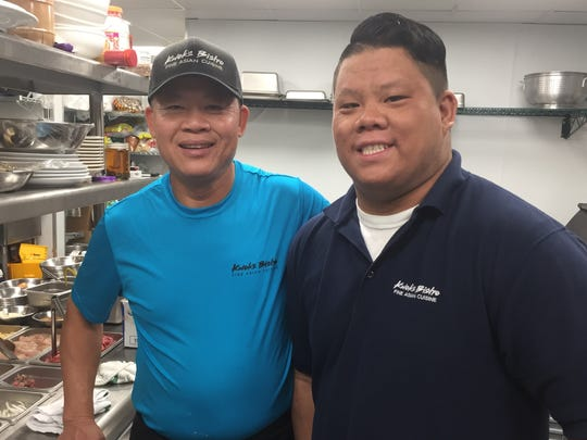 Chef Kwok Chen, left, owns Kwok's Bistro in downtown Reno. His son, Danny Nguyen, is general manager.