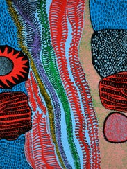 """""""The Path of Life"""" by Yayoi Kusama. This painting is"""