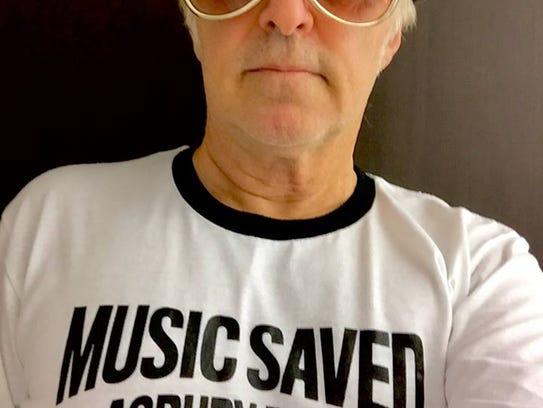 Glen Burtnik with a Music Saved Asbury Park T-shirt.