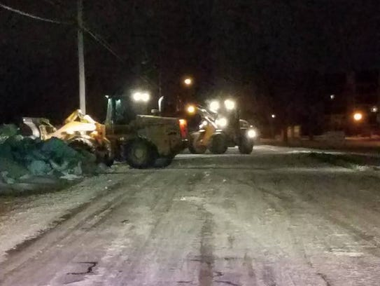 Port Clinton street department crews work to remove