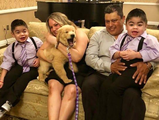The Sanchez family -- mom Toni Ann, dad Alberto and
