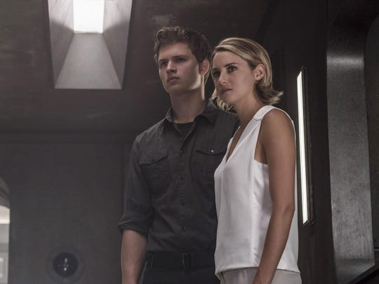 """Ansel Elgort, left, and Shailene Woodley are seen in """"The Divergent Series: Allegiant."""""""