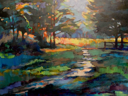 A Karen Schmidt painting.
