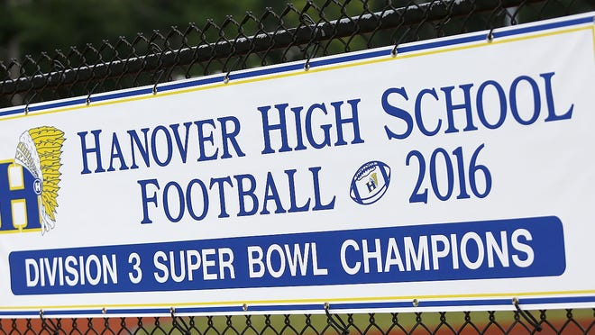 Hanover High Indian logo on Thursday July 30, 2020 Greg Derr/The Patriot Ledger