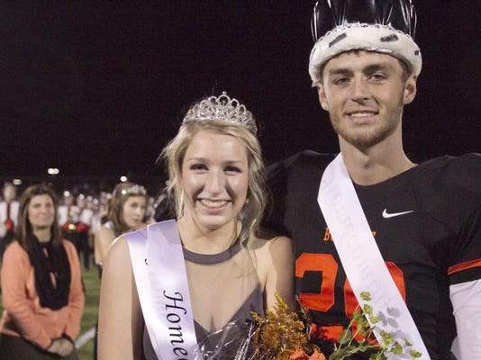 BHS Homecoming queen-king