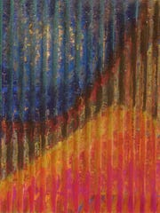 "Carol Pepper-Cooper's ""Desert Night"" is painted on"