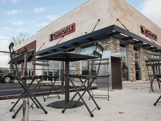 Chipotle anchors a strip mall at Ford and Lilley.