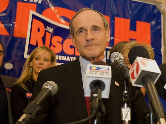 Newly elected Idaho Republican U.S. Senate Jim Risch addresses the Republican Party after winning the U.S. Senate seat on , Nov. 4, 2008, in Boise, Idaho.