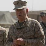 Retired Marine general James Mattis in Afghanistan in 2009.