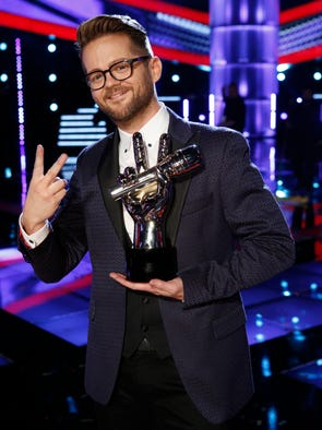 "THE VOICE -- ""Live Finale"" Episode 621B -- Pictured: Josh Kaufman -- (Photo by: Trae Patton/NBC)"