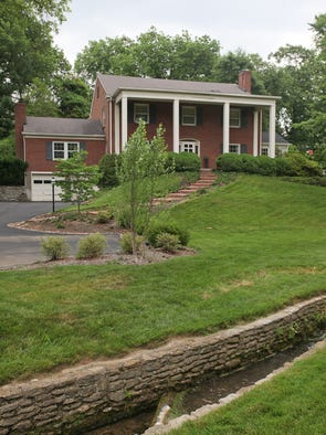 The exterior of the home of Peter and Susan Thurman in Louisville, KY. June 2, 2014