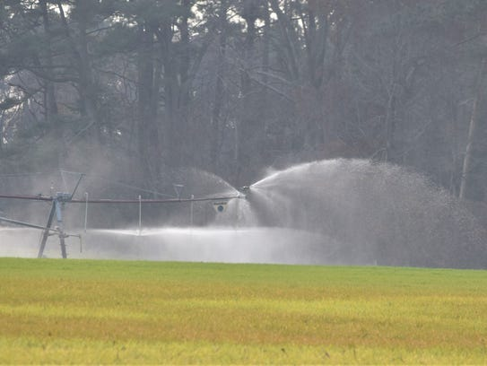 Mountaire Farms continues its spray operations on farm