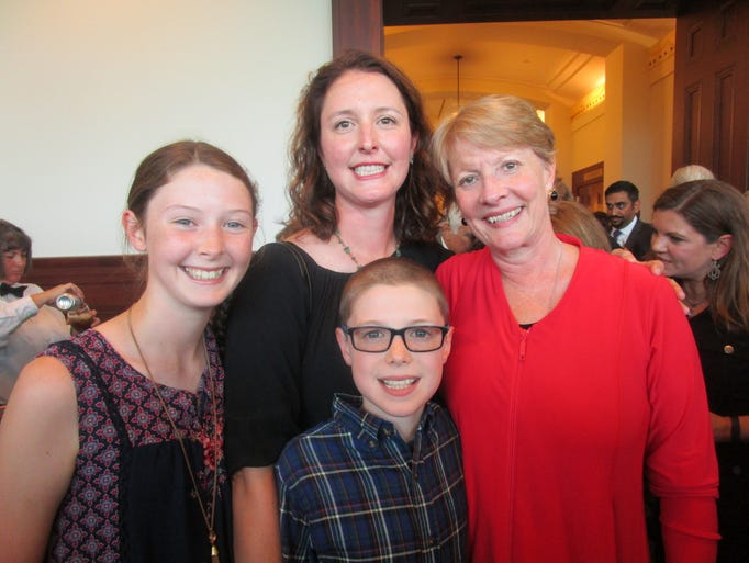 Lily, Kathy and Alex Dupuis and Hon. Rebecca Doherty