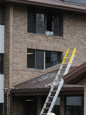 A third-floor apartment fire at the Parkview Haven Apartments at 1325 N. Eighth St. forced all tenants to be evacuated Wednesday. One person died in the fire and two were treated for smoke inhalation.