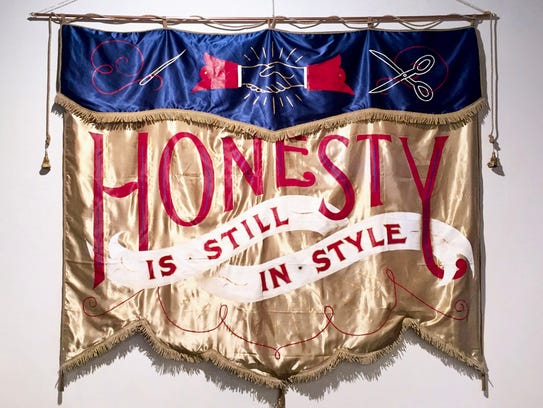 """Shelby Rodeffer, """"Honesty is Still in Style,"""" banner."""