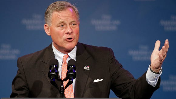 U.S. Sen. Richard Burr, R-N.C., speaks in Charlotte