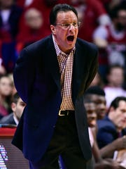 FILE --  Indiana Hoosiers head coach Tom Crean yells to his team during the first quarter of the game against the Purdue Boilermakers at Assembly Hall.