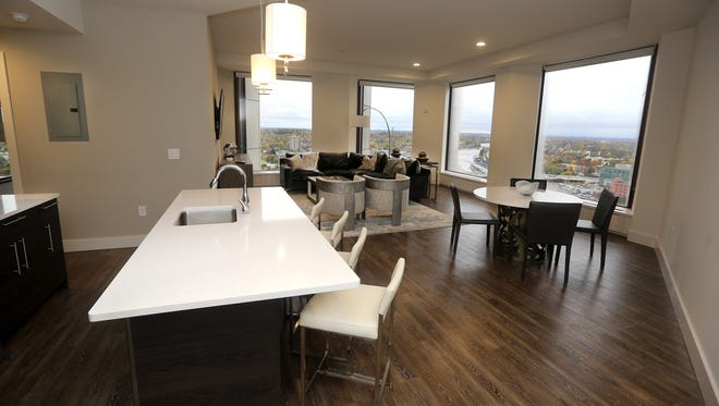 The apartments start at $1,200 a month and offer an open floor plan.