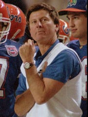 Florida coach Steve Spurrier is seen in this 1994 file photo.