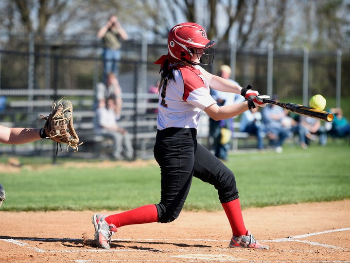 Annville-Cleona's Amber Rexrode (11) connects with