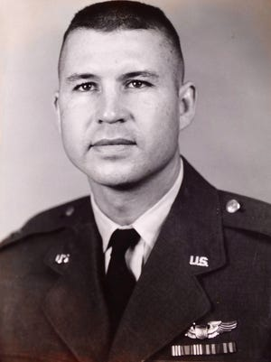 Robert Hickman in 1962, four years before he died during a  reconnaissance flight.