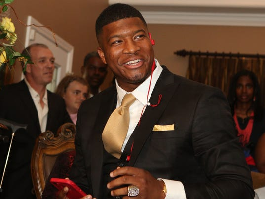 Surrounded by family, Jameis Winston soaks in joy of NFL draft
