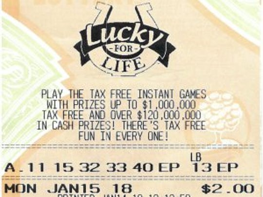Shawna Donnelly's winning Lucky for Life Michigan Lottery